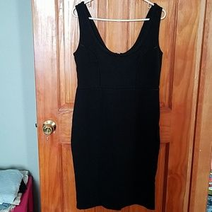 Black sleeveless tank dress by french connection